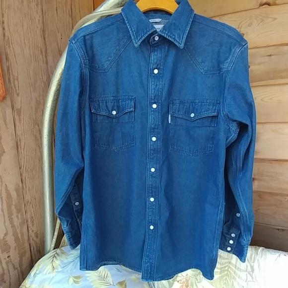 854783c2b4c Carhartt Other - Carhartt Mens Lg Denim L S Shirt Pearl Snaps NEW!